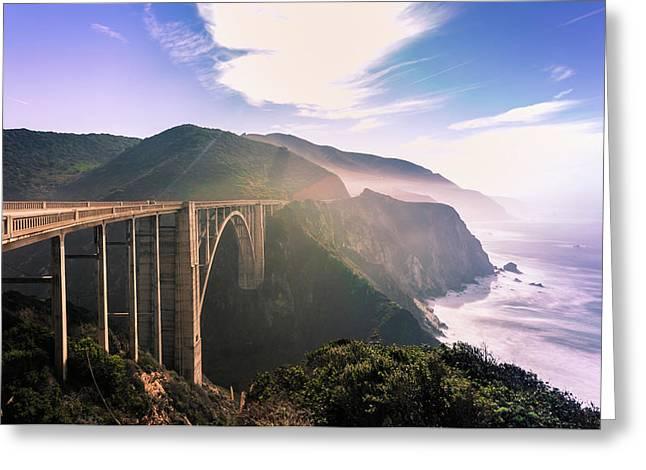 Greeting Card featuring the photograph Bixby Creek Bridge,big Sur by Jingjits Photography