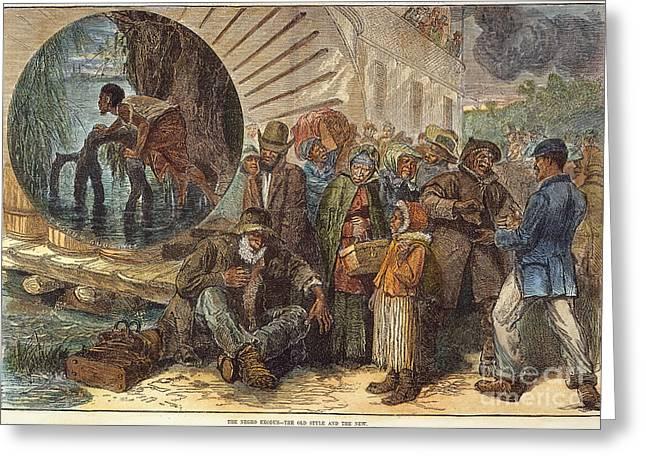 Black Exodus, 1880 Greeting Card by Granger