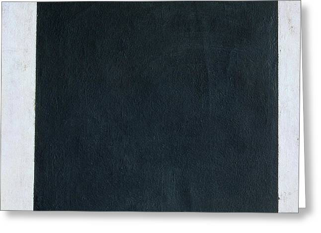 Black Square Greeting Card by Kazimir Malevich