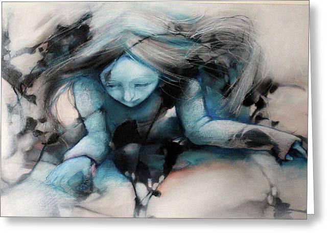 Barbara Agreste Paintings Greeting Cards - BlackBough Greeting Card by Barbara  Agreste