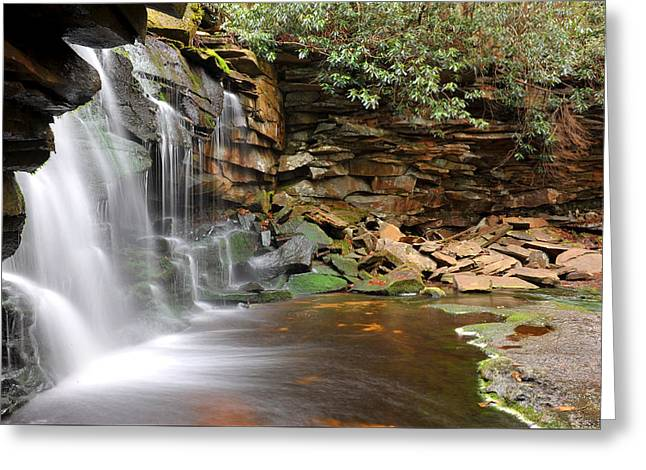 Greeting Card featuring the photograph Blackwater Falls by Dung Ma