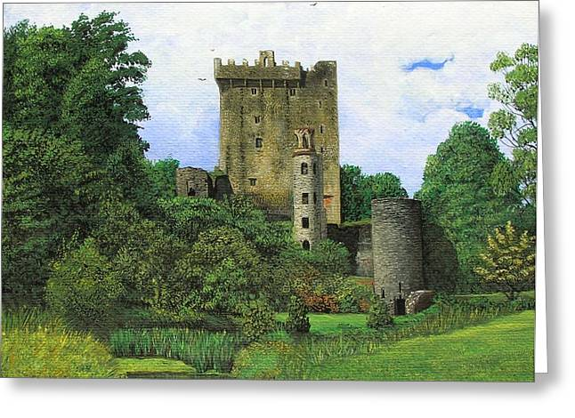 County Cork Greeting Cards - Blarney Castle  Greeting Card by Charolette A Coulter