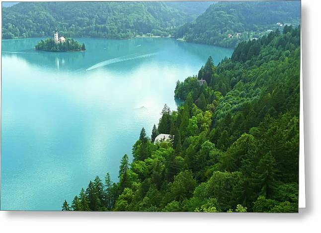 Bled Greeting Card by Daniel Csoka