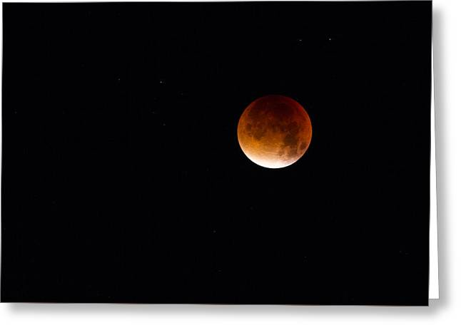 Blood Moon Super Moon 2015 Greeting Card