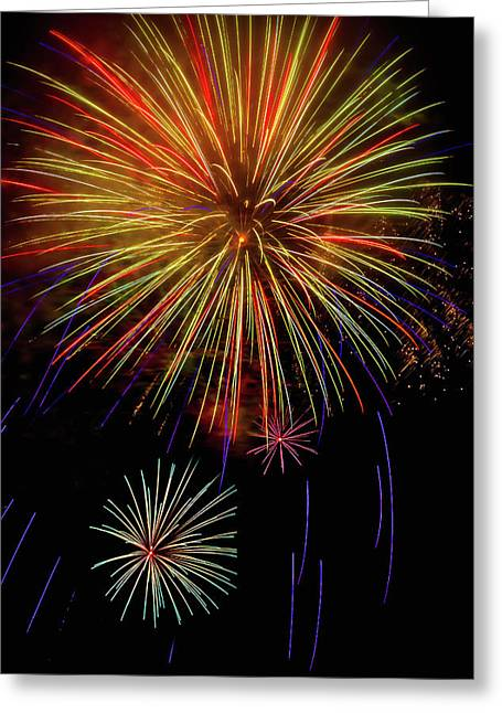 Blooming Fireworks Greeting Card