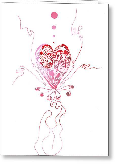 Blossoming Love Greeting Card by Regina Valluzzi