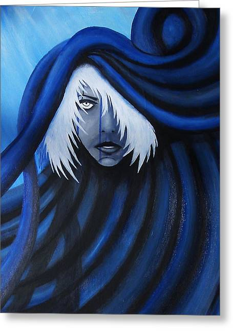 Blue Greeting Card by Edwin Alverio