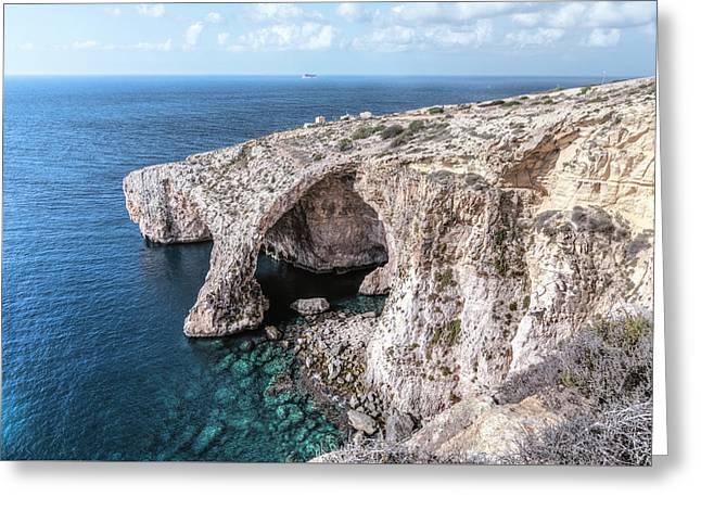 Blue Grotto - Malta Greeting Card