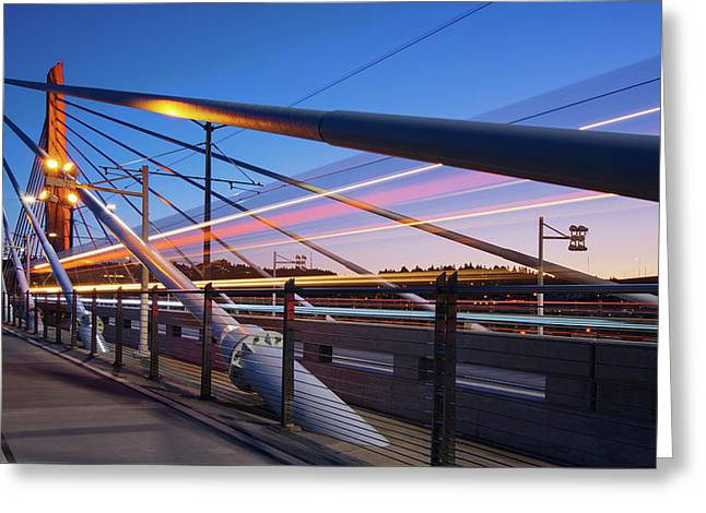 Blue Hour Blur #2 Greeting Card by Patrick Campbell