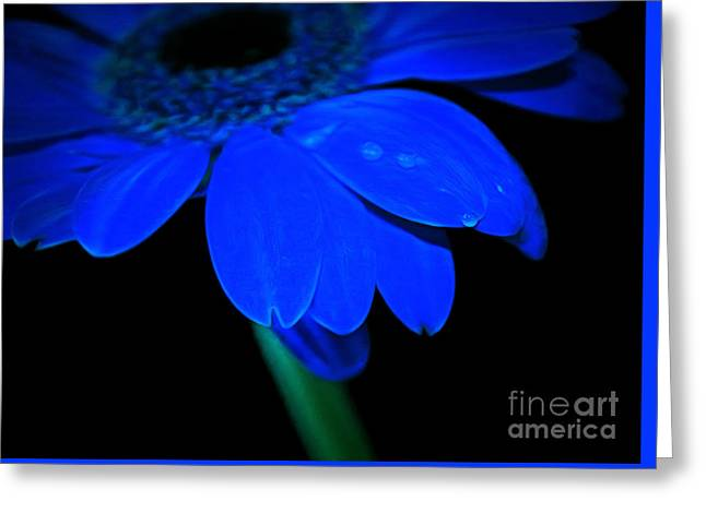 Blue Memories Greeting Card by Krissy Katsimbras