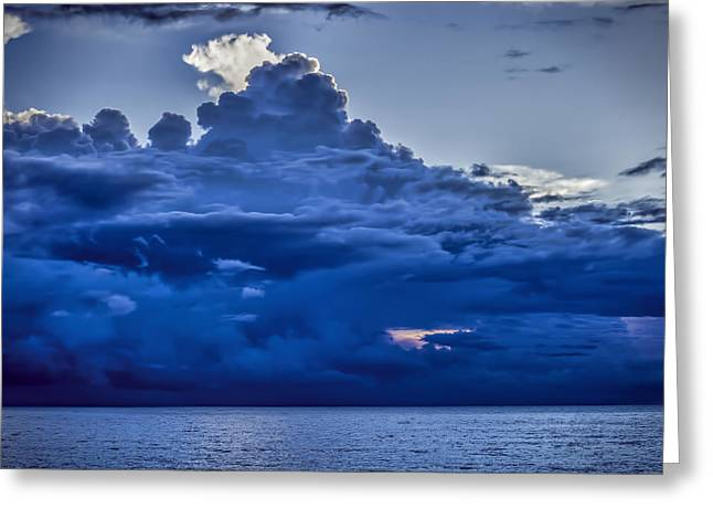 Blue On Blue Greeting Card by Dave Bosse