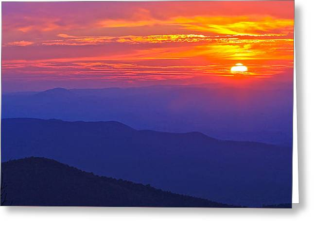 Blue Ridge Parkway Sunset, Va Greeting Card