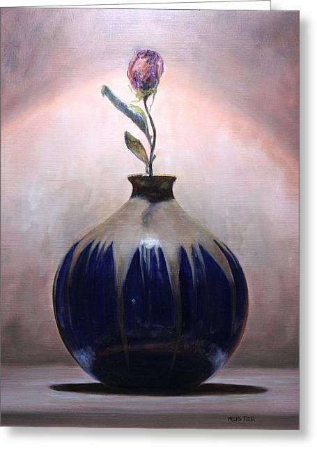 Blue Vase Greeting Card by Richard Meister