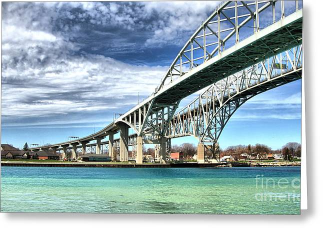 Blue Water Bridge Greeting Card by Joe  Ng