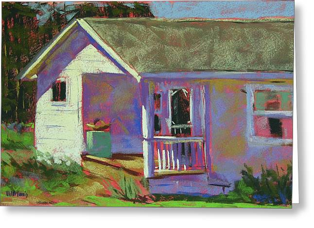 Blue Willow Farmers House Greeting Card by Mary McInnis