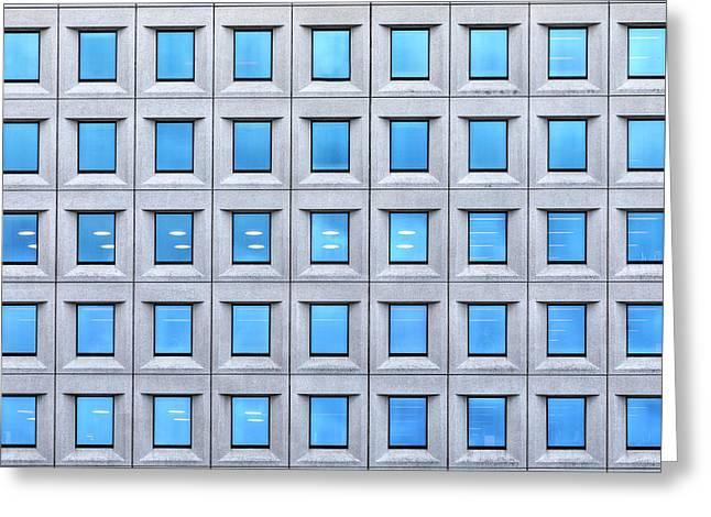 Blue Windows Greeting Card by Joana Kruse