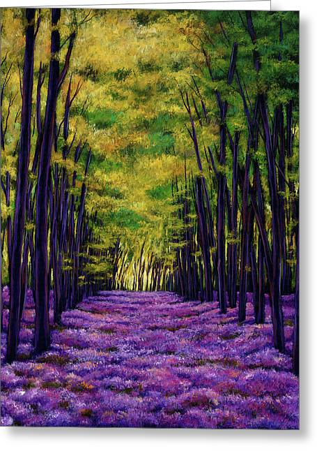 Expressionistic Greeting Cards - Bluebell Vista Greeting Card by Johnathan Harris
