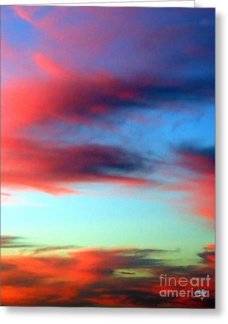 Blushed Sky Greeting Card by Linda Hollis