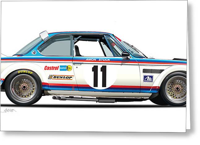 Bmw 3.0 Csl Chris Amon, Hans Stuck Greeting Card by Alain Jamar