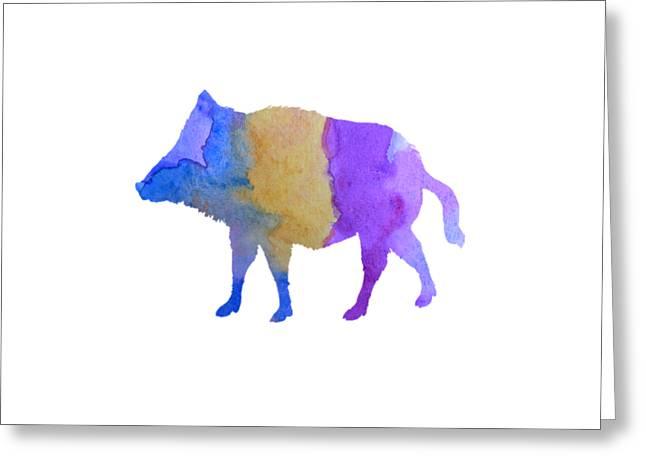 Boar Greeting Card by Mordax Furittus