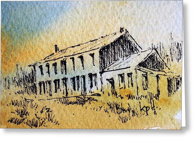 Boardinghouse Cable Ghost Town Montana Greeting Card by Kevin Heaney