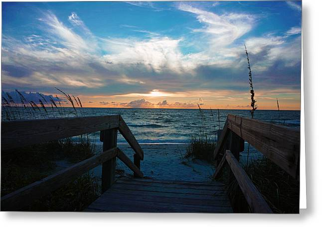 Boardwalk At Delnor-wiggins Pass State Park Greeting Card by Robb Stan