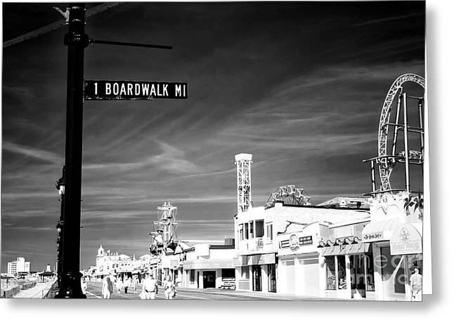 Greeting Card featuring the photograph 1 Boardwalk Mile by John Rizzuto
