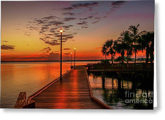 Boardwalk Sunrise Greeting Card by Tom Claud