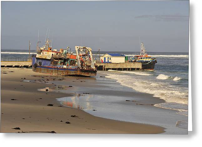 Boats Aground Greeting Card by Patrick Kain