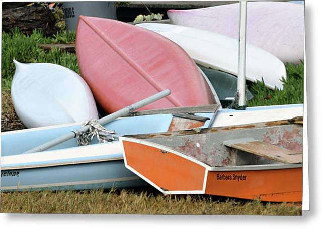Boats Boats And More Boats Greeting Card by Barbara Snyder