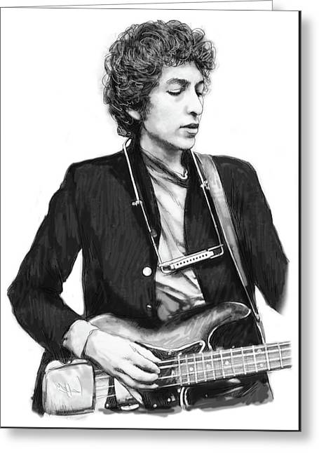 Bob Dylan Drawing Art Poster Greeting Card