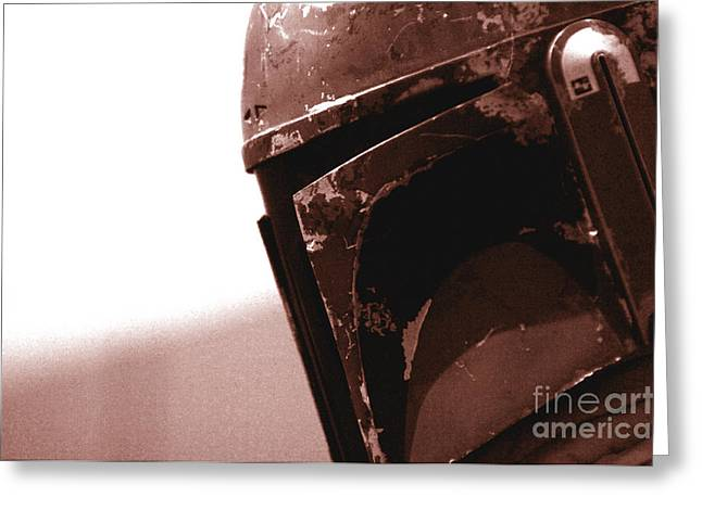 Boba Fett Helmet 32 Greeting Card by Micah May