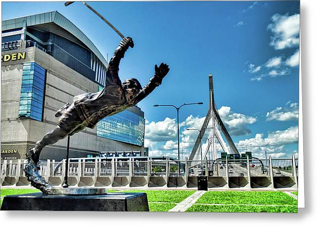 Bobby Orr Statue Greeting Card