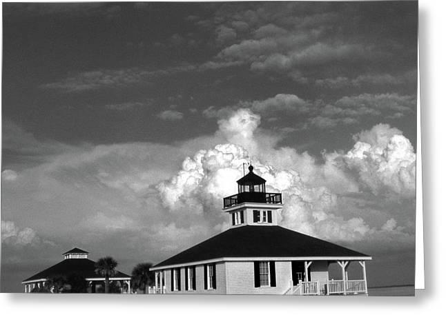 Boca Grande Lighthouse Greeting Card by Skip Willits
