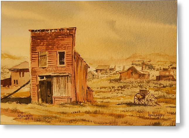 Bodie California Greeting Card by Kevin Heaney
