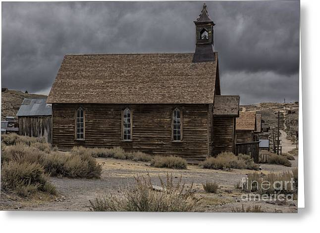 Stormy Day In Bodie State Historic Park Greeting Card