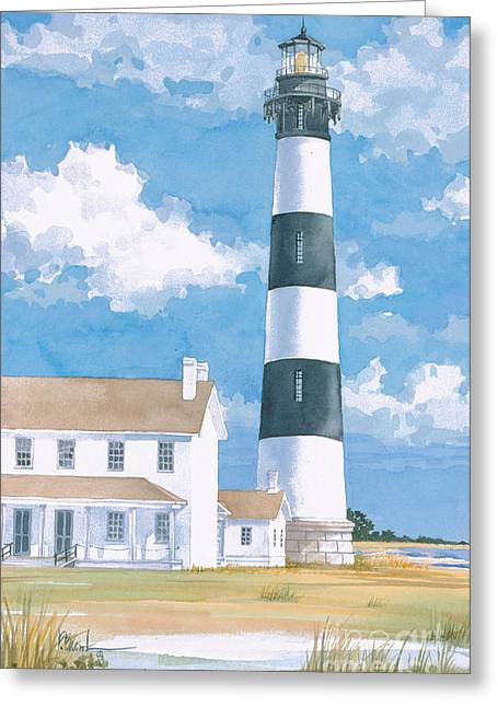 Bodie Island Lighthouse Greeting Card by Paul Brent