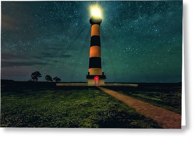 Bodie Island Night Greeting Card