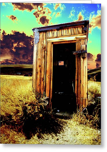 Bodie Outhouse Greeting Card by Jim and Emily Bush