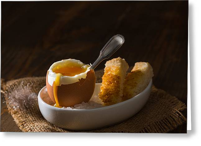 Boiled Egg Greeting Card by Amanda Elwell