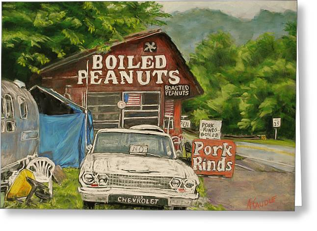 Store Fronts Pastels Greeting Cards - Boiled Peanuts Greeting Card by Ann Caudle