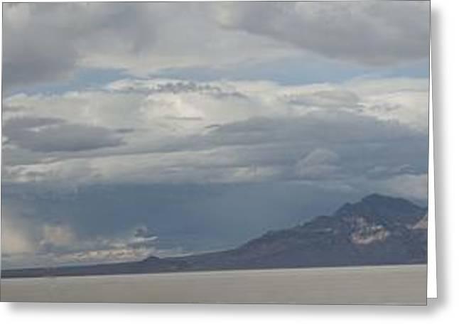 Greeting Card featuring the photograph Bonneville Salt Flats by Daniel Hebard
