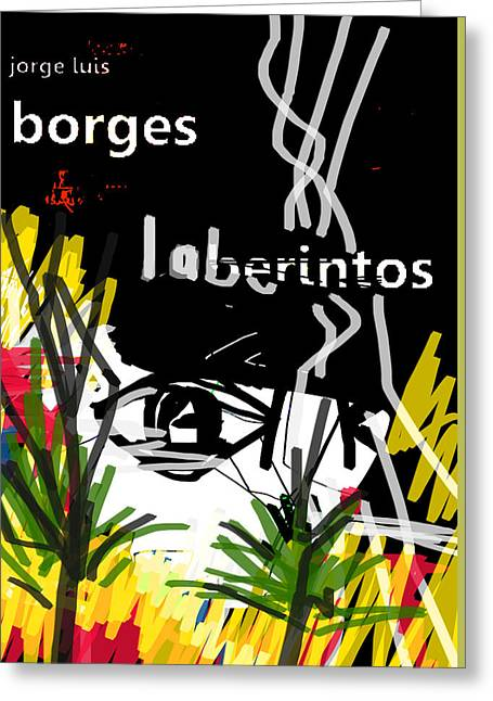 Borges' Labyrinths Poster Greeting Card