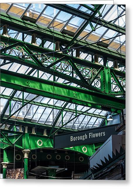 Borough Market London Greeting Card by Dawn OConnor