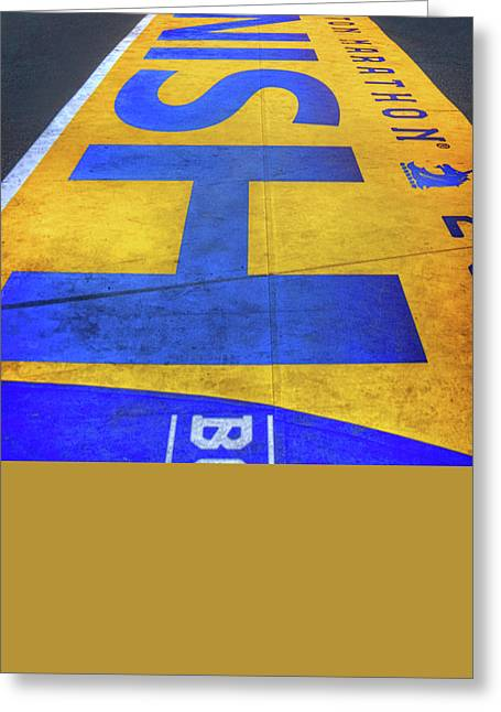 Greeting Card featuring the photograph Boston Marathon Finish Line by Joann Vitali