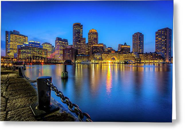 Boston Greeting Card by Michael Petrizzo