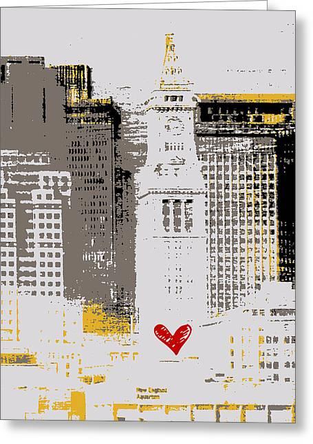 Boston Skyline 1 Greeting Card by Brandi Fitzgerald