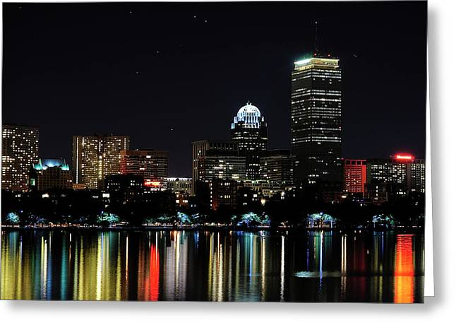 Boston Skyline Greeting Card by Girardi Santiago