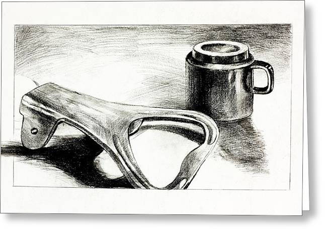 Bottle Opener And Cup  By Ivailo Nikolov Greeting Card by Boyan Dimitrov