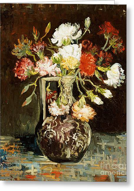 Bouquet Of Flowers Greeting Card by Vincent Van Gogh